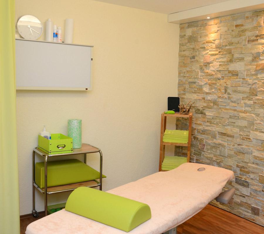 Behandlungsraum Phsiotherapie Wieland